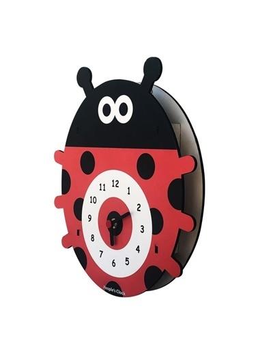 Peoples Clock Uğur Böceği Özel Tasarım Duvar Saati  Renkli